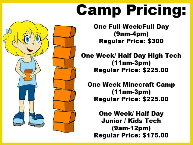 YTLC STEM Camp Pricing